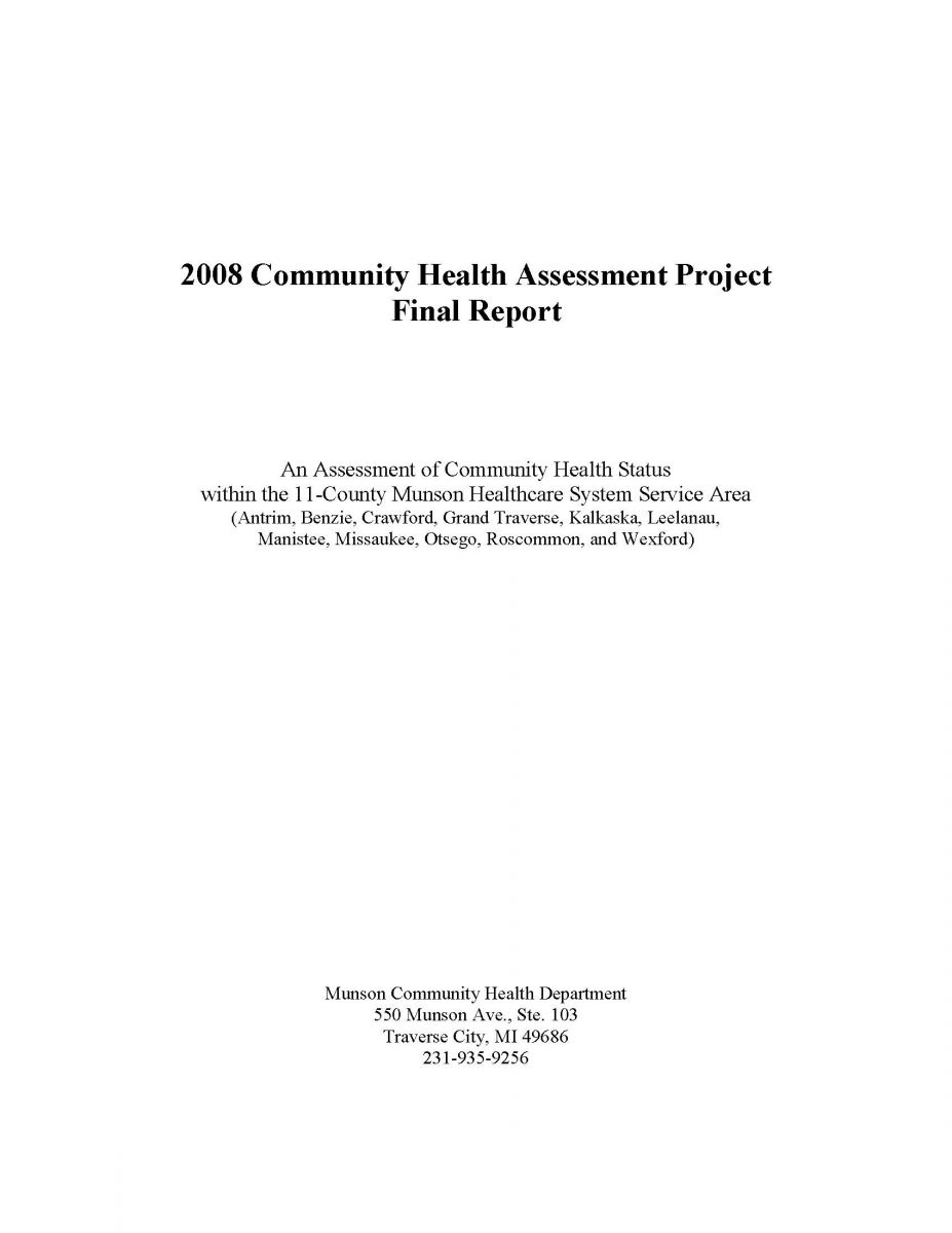 community assessment project